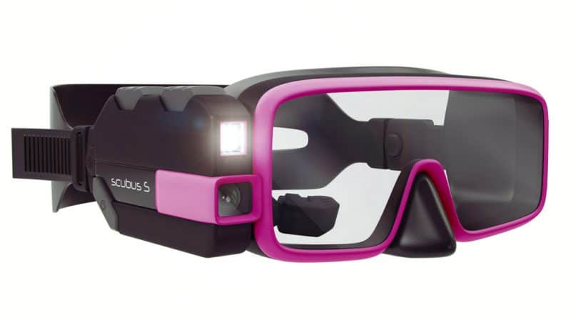 Smart scuba diving mask - The Scubus S system