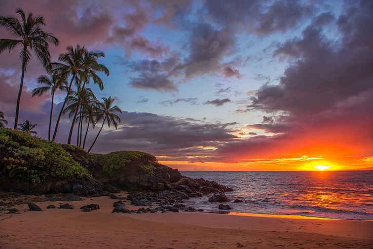 Sunset - Ulua Beach - Hawaii