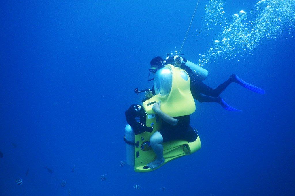 Aquabike underwater adventure Bora Bora