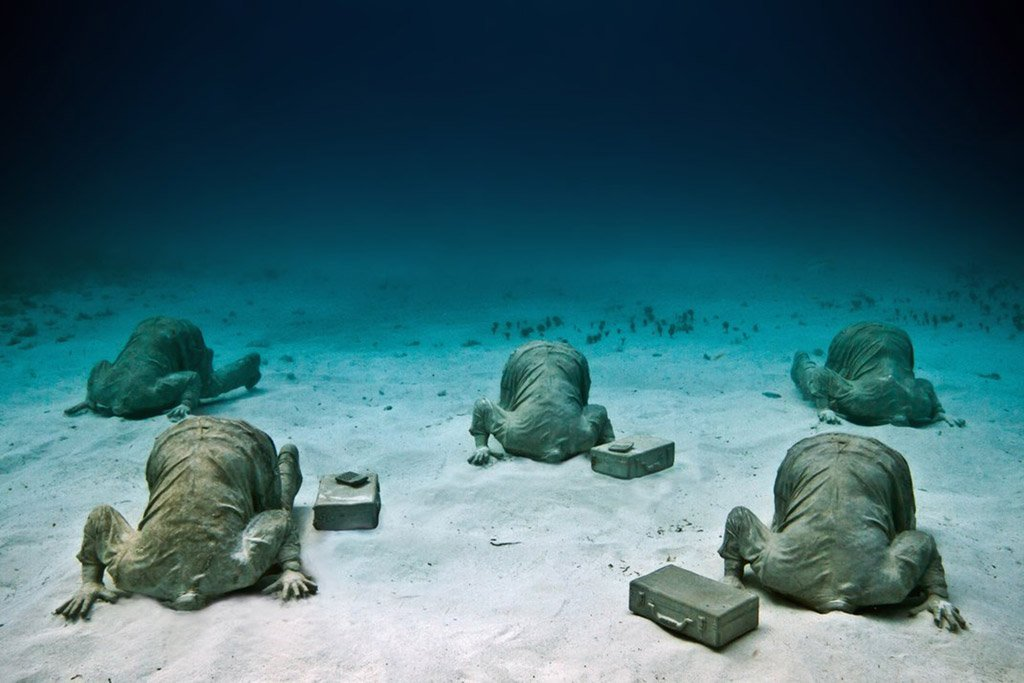 Cancun underwater sculptures museum Mexico