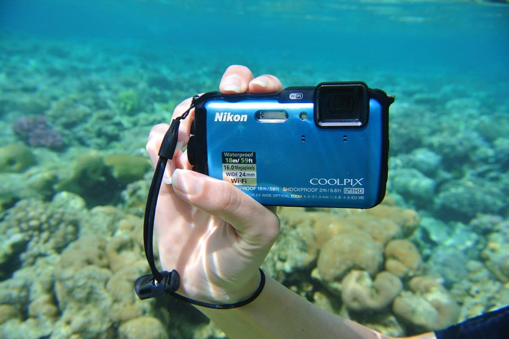 Waterproof compact camera