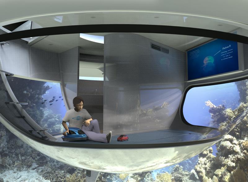 UFO Jet Capsule - Underwater home