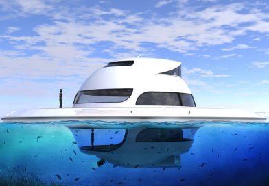 Floating home Jet Capsule UFO – House of the future