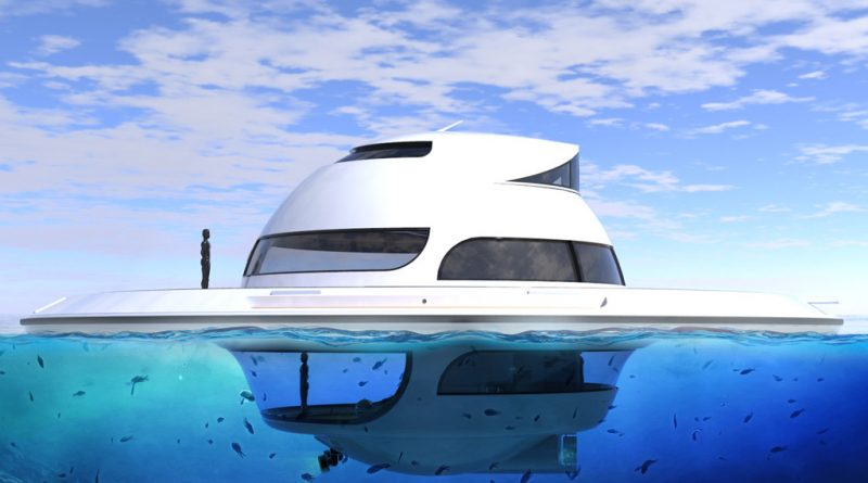 Floating home Jet Capsule UFO - House of the future