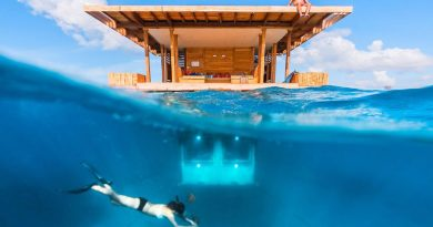 Underwater hotel room – Manta Resort, Zanzibar
