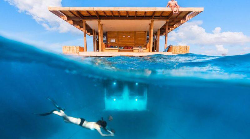 Underwater hotel room – Manta Resort, Zanzibar