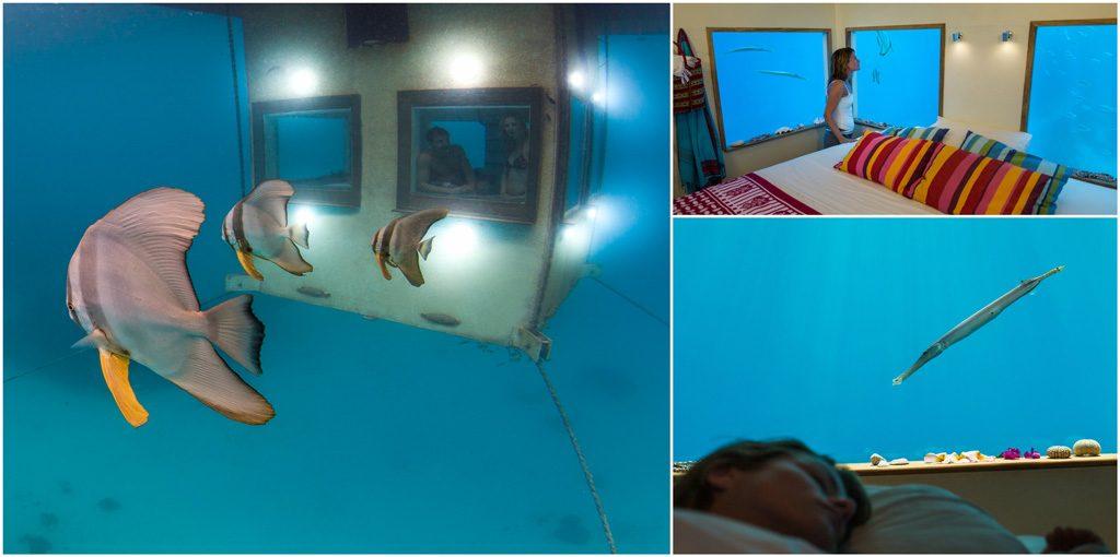 Underwater hotel room - Manta Resort