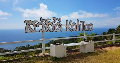 Koh Tao sign on the view point