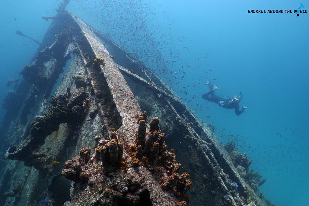 Antilla shipwreck snorkeling Aruba