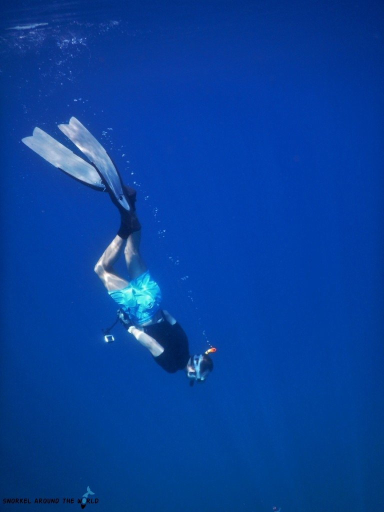 Freediver in Croatia