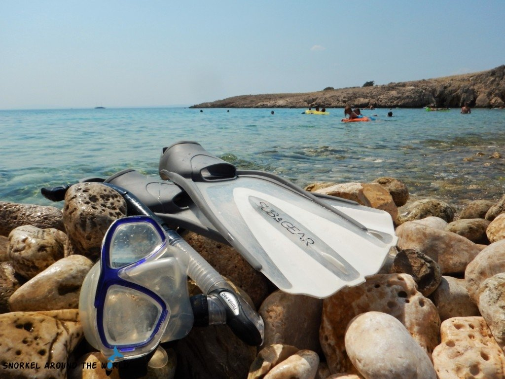 Snorkel Gear on the Beach