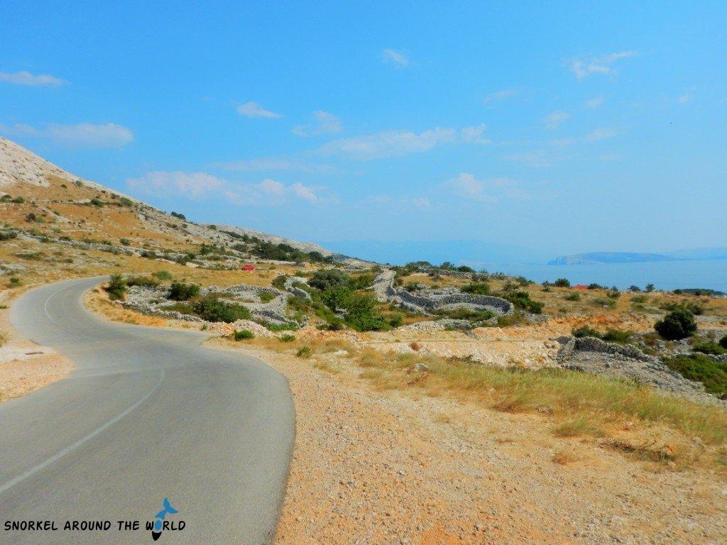 Road to Stara Baska Croatia