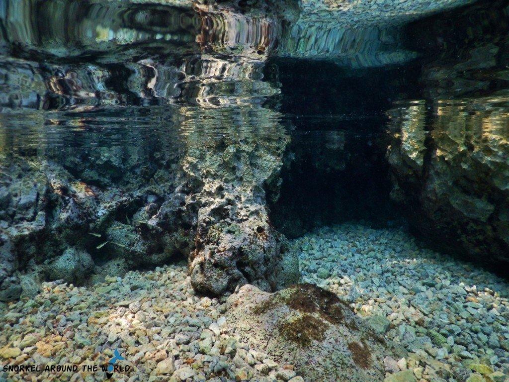 Snorkeling in caves Krk Croatia