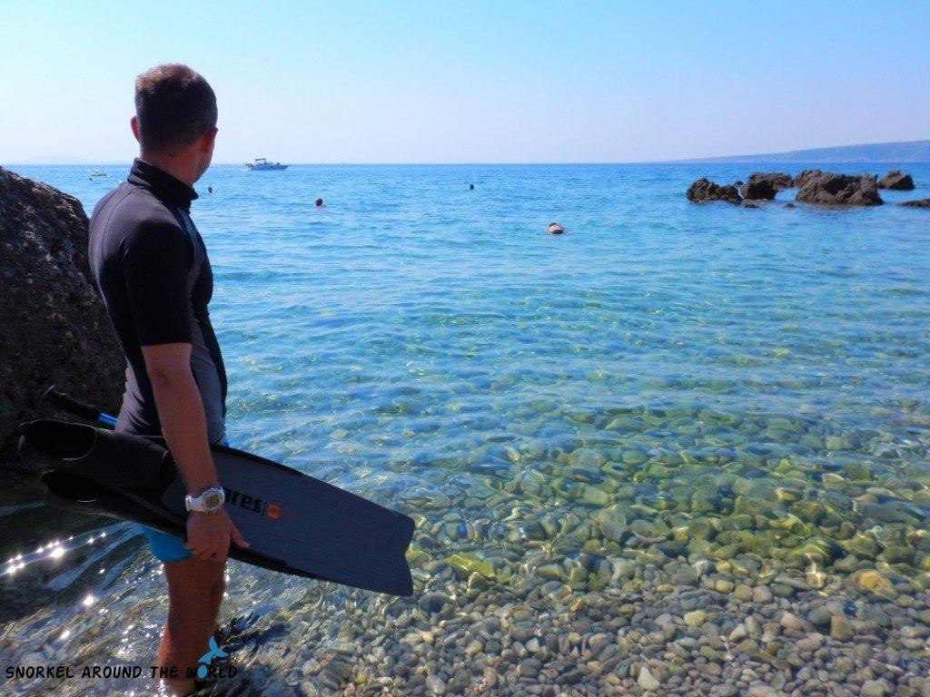 Freediver in Croatia