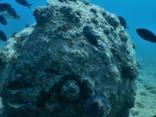 Underwater bomb Krk island