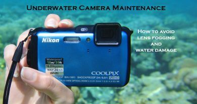 Underwater camera maintenance