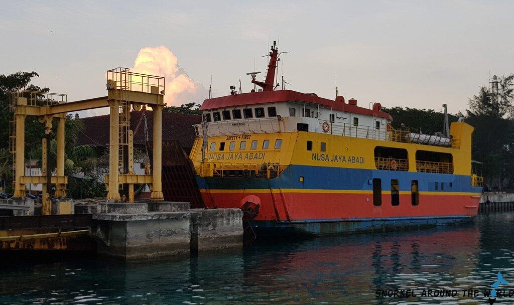 Public ferry in Nusa Penida to Padang Bai Bali