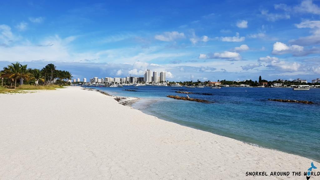 Beach on Peanut Island