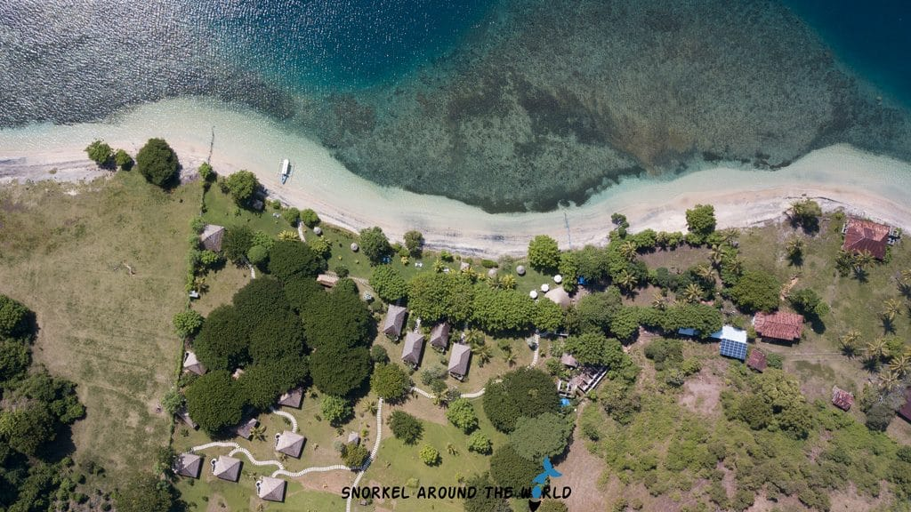 Gili Asahan drone picture