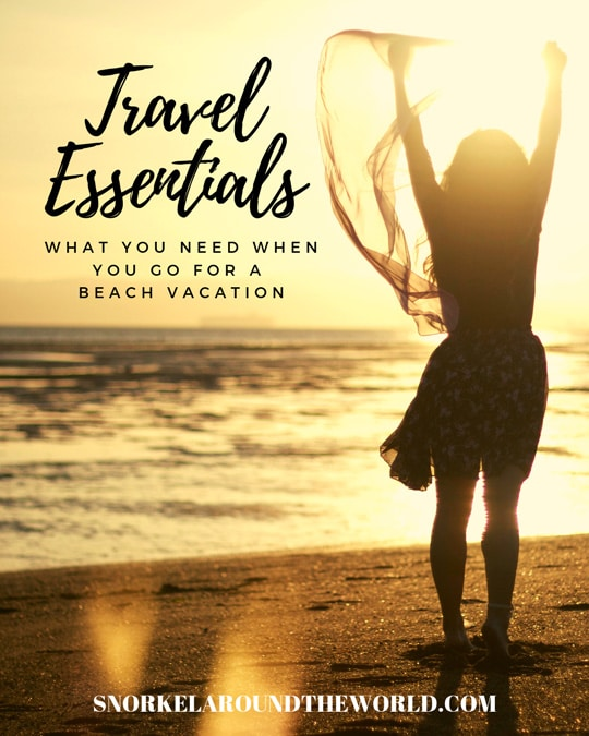 Travel essentials for beach holiday