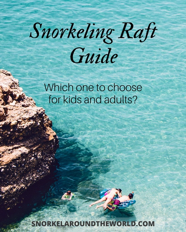 Snorkeling Raft - sea window guide