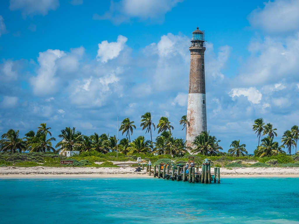 Dry Tortugas snorkeling spot - lighthouse
