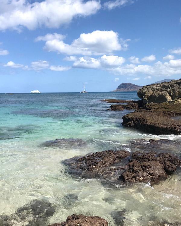 Rocky beach in Oahu