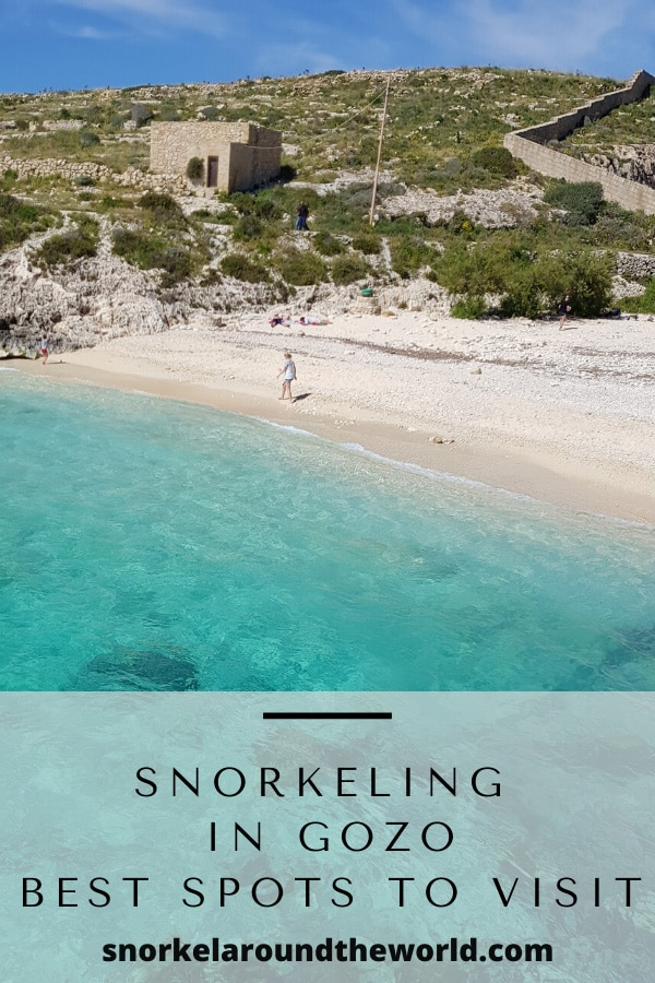 Gozo best snorkeling spots pin