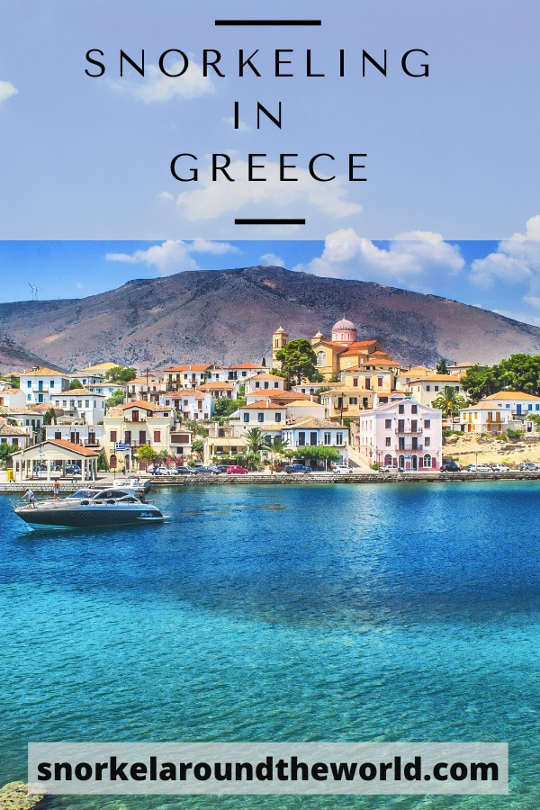 Greece best snorkeling places pin