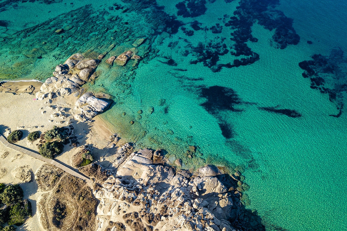 The clear waters of Naxos