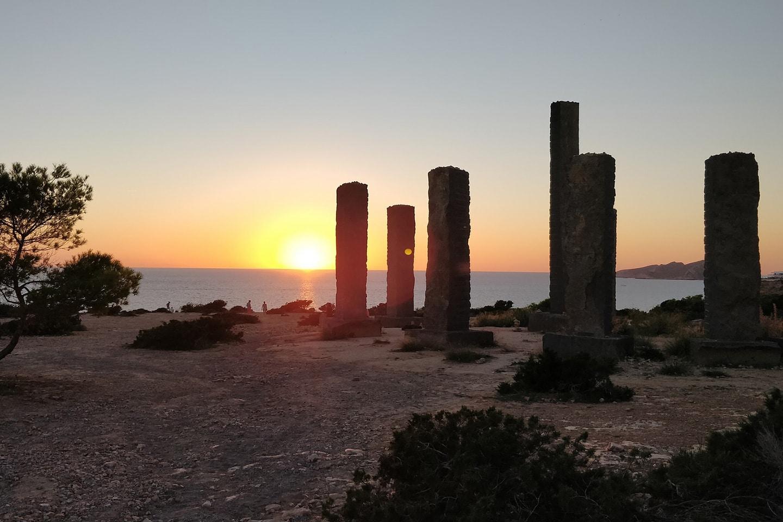 Ibiza stonehenge at Cala Codolar