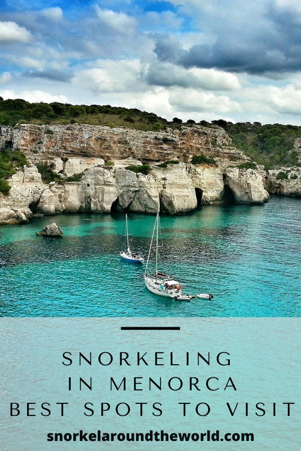 Snorkeling in Menorca-pin