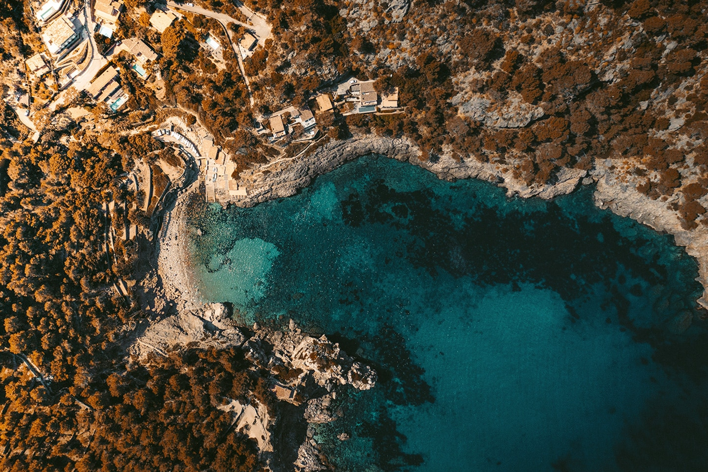 Cala Deia aerial photo