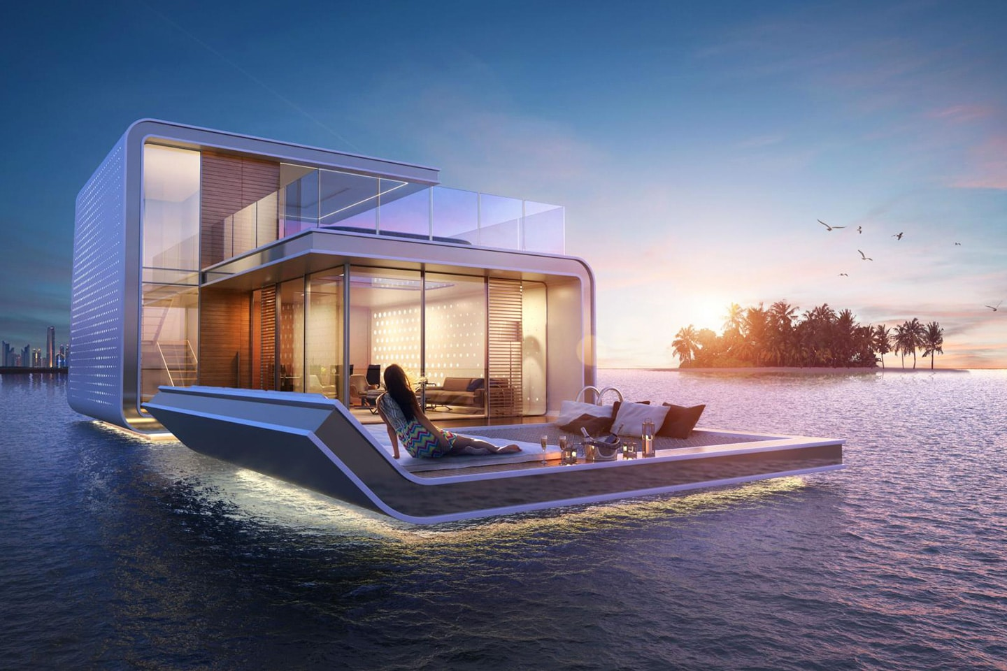 Floating house in Dubai