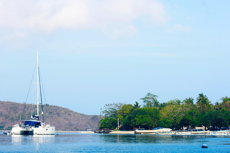Boats near Gili Asahan