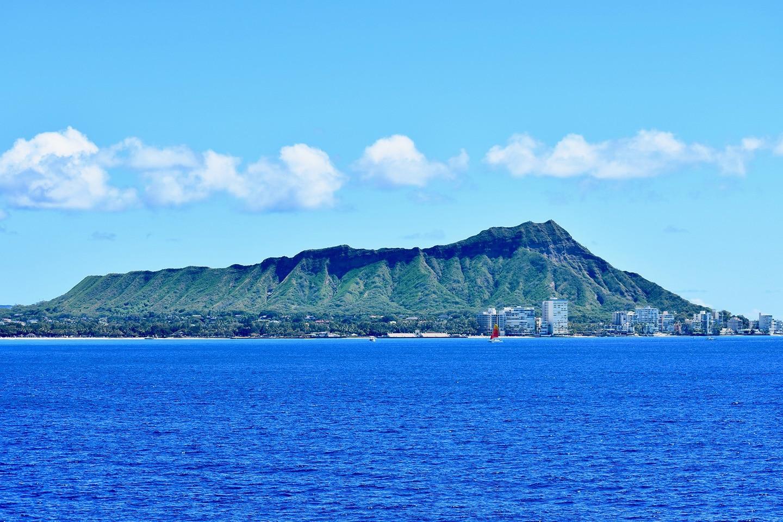 Diamond Head Oahu coastline