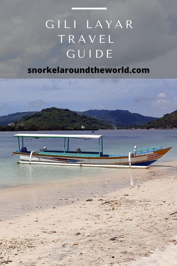 Boat on Gili Layar