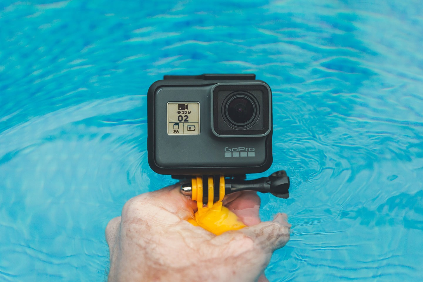 GoPro in the pool