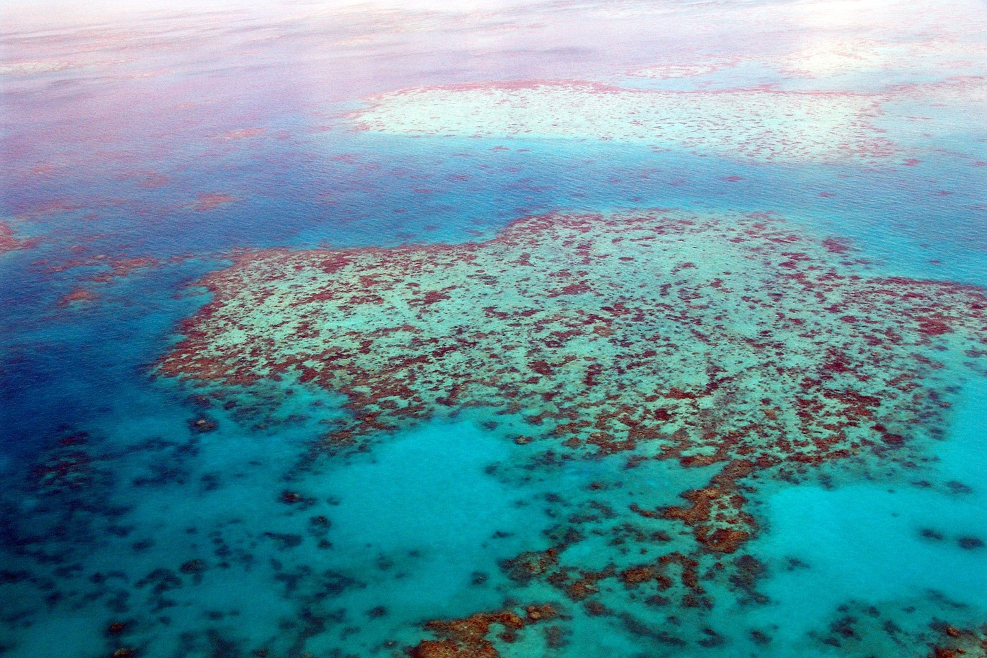 The Great Barrier Reef from the air