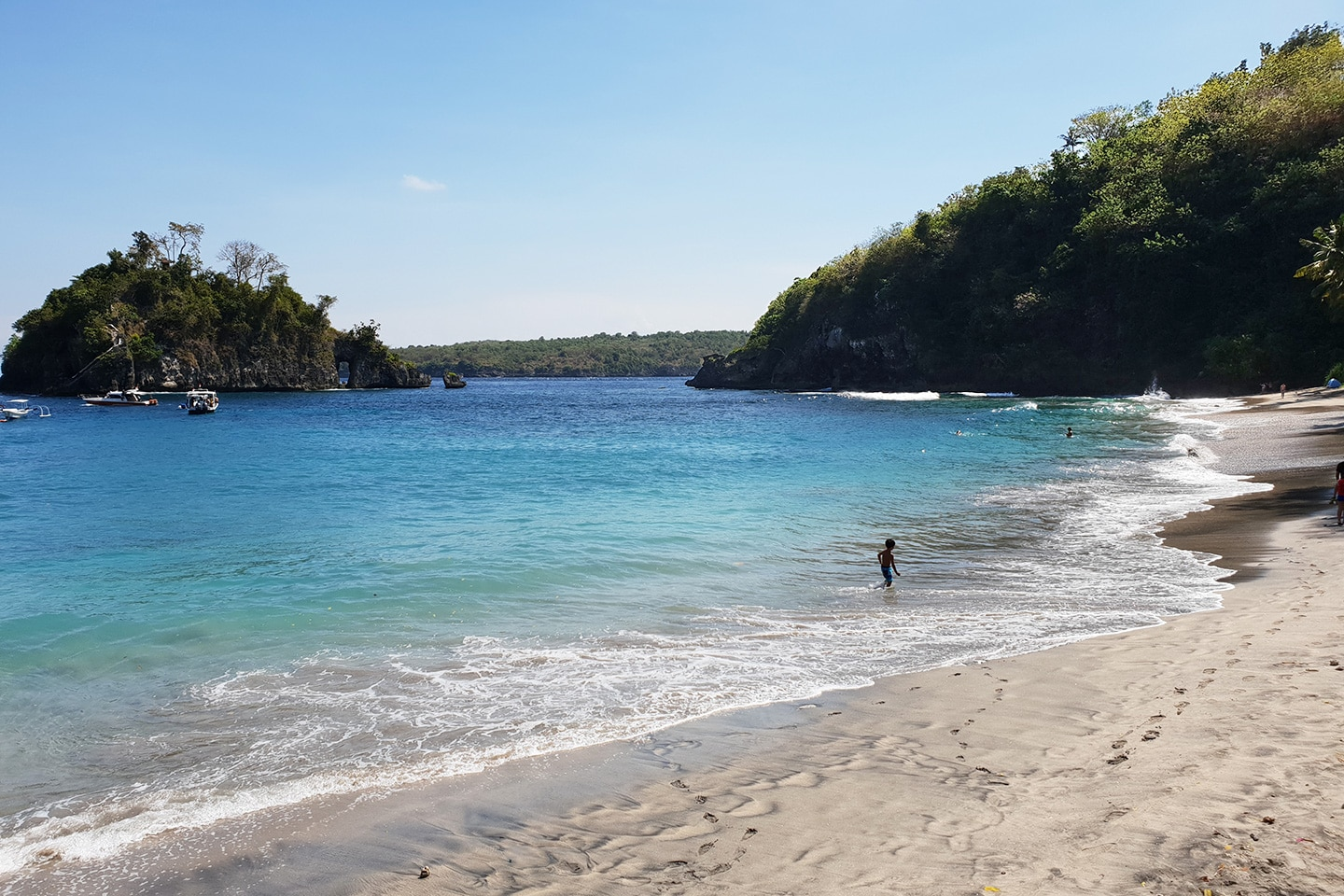 Sandy beach Nusa Penida