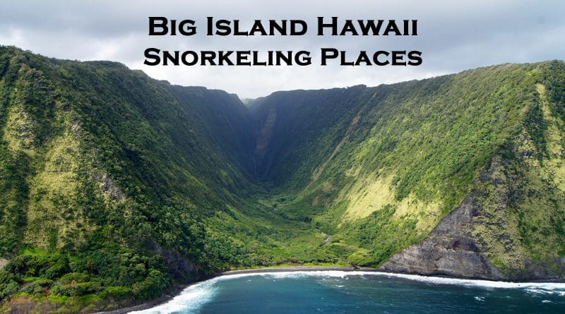 Snorkeling places big island Hawaii