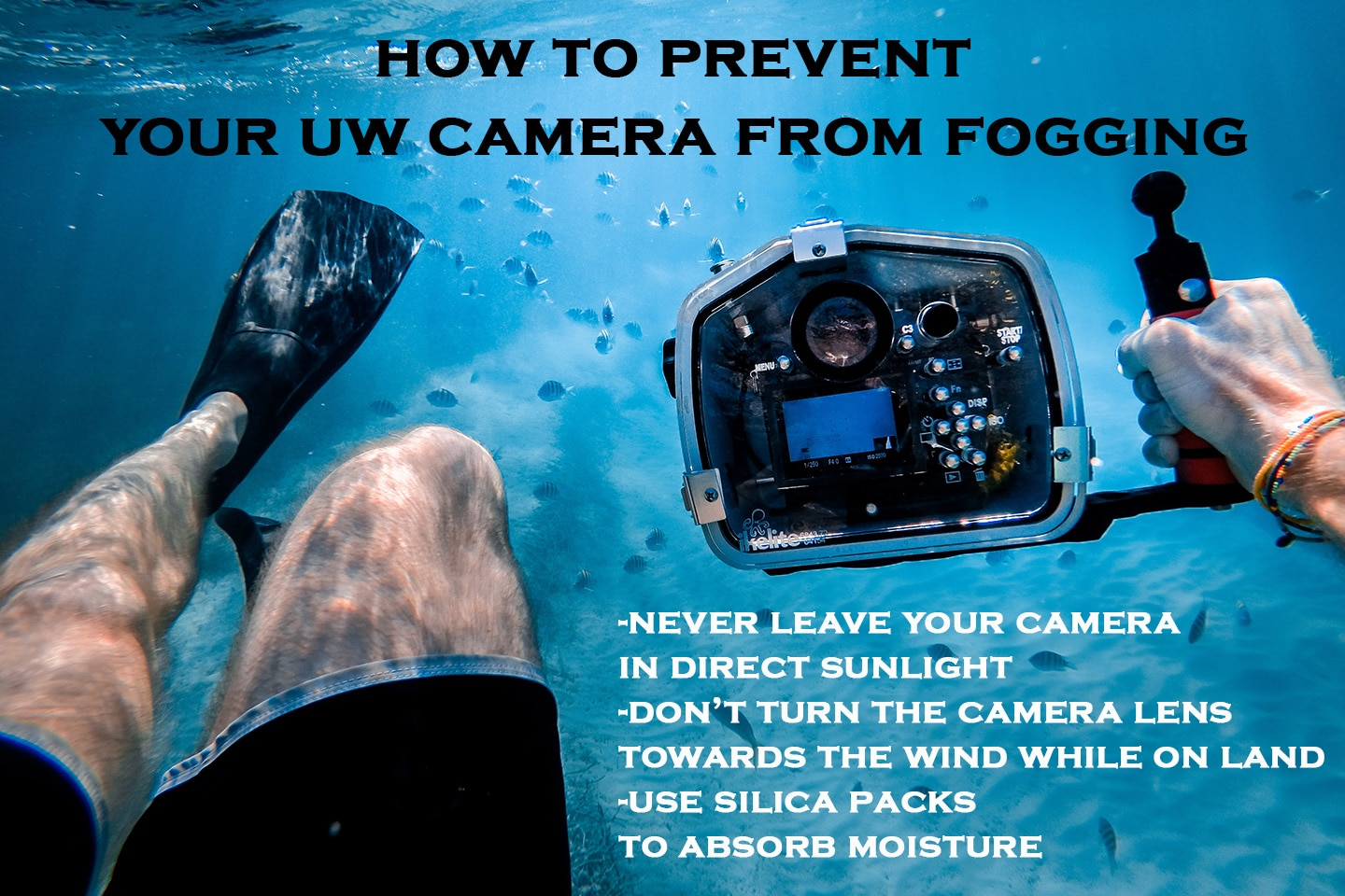 how to prevent waterproof camera fogging