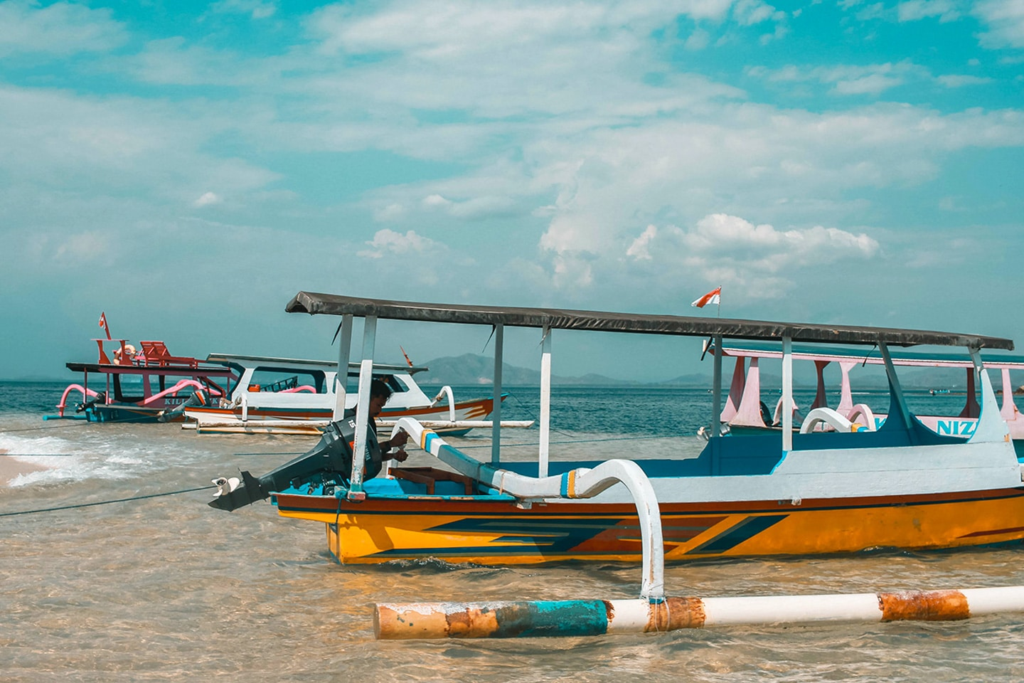 Boats in Lombok Indonesia
