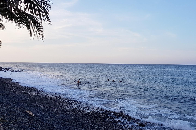 Tulamben rocky beach