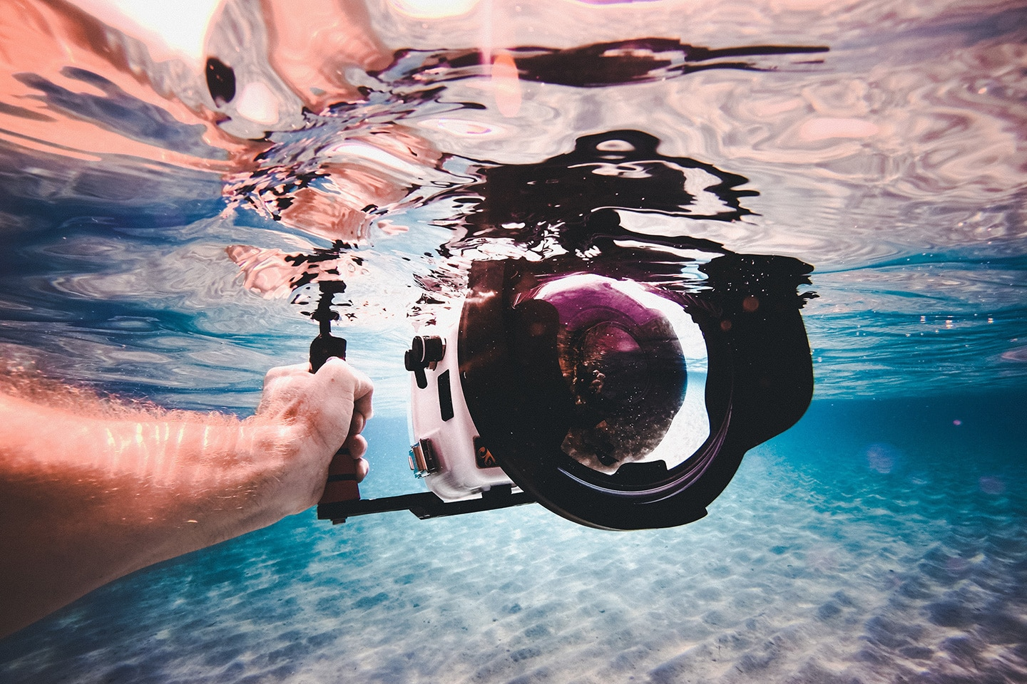 underwater camera with dome port