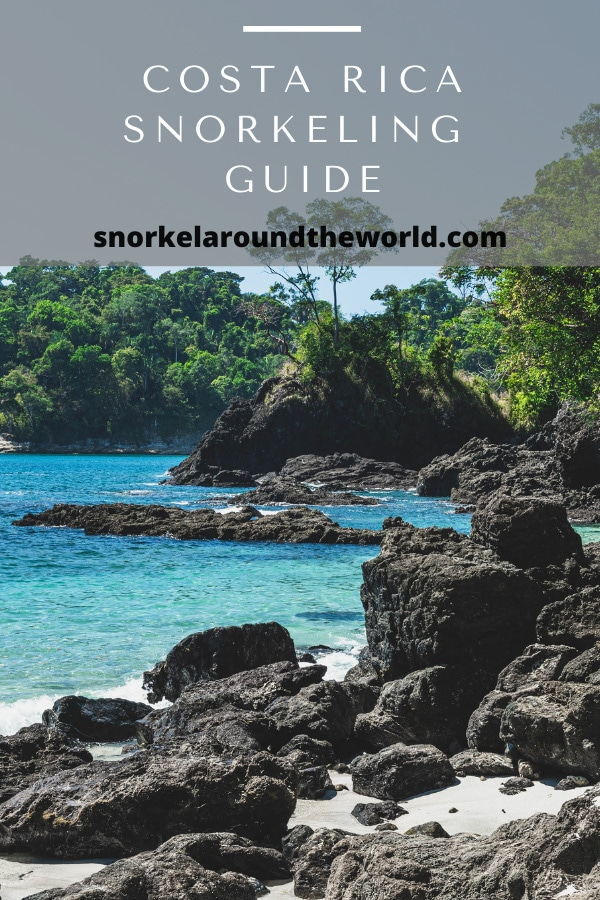 Costa Rica snorkeling places pin
