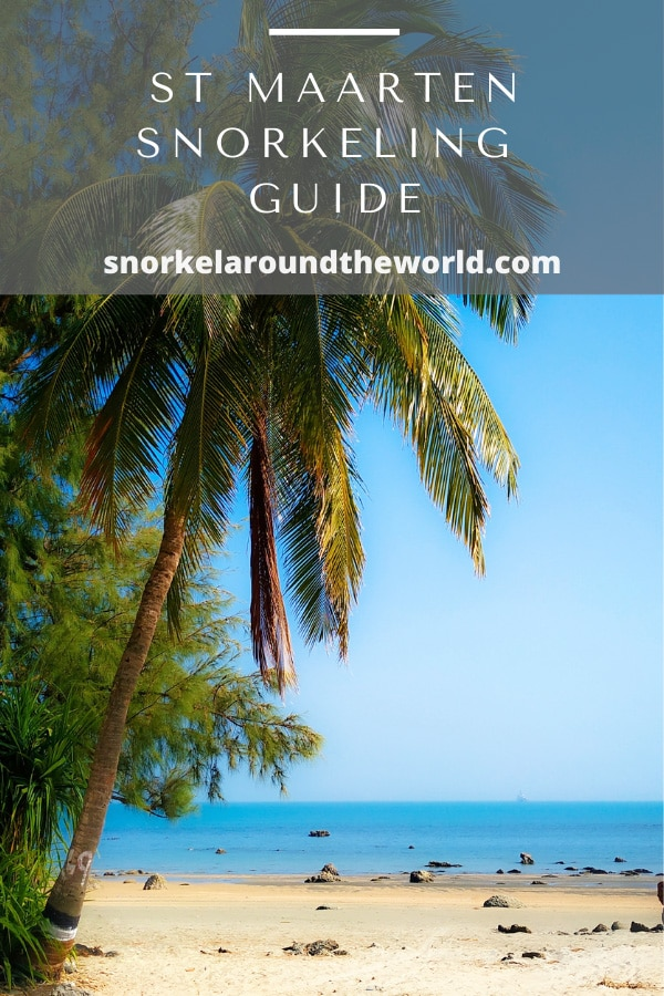St Maarten snorkeling places pin