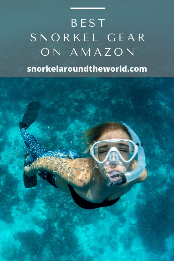woman wearing snorkel gear