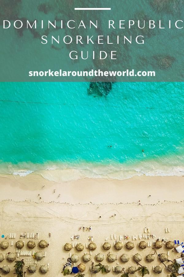 Dominican Republic snorkeling guide pin