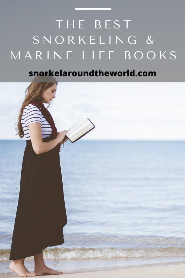 girl is reading book on the beach